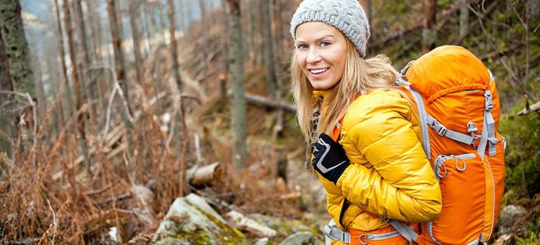 fall workout hiking