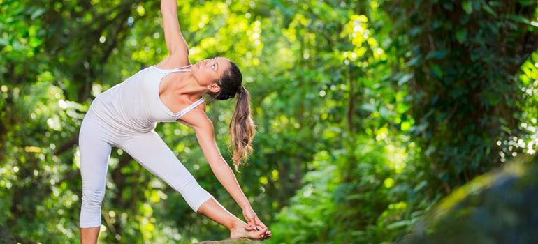 yoga exercising