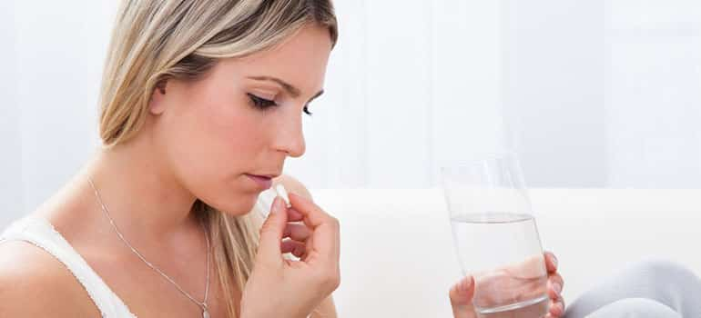 woman taking phentermine