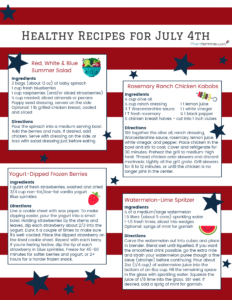 Healthy Recipes for 4th of July on Phentermine
