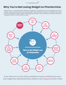 why you're not losing weight with phentermine infographic
