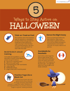 How to Stay Active on Halloween Infographic
