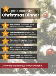 christmas dinner tips infographic
