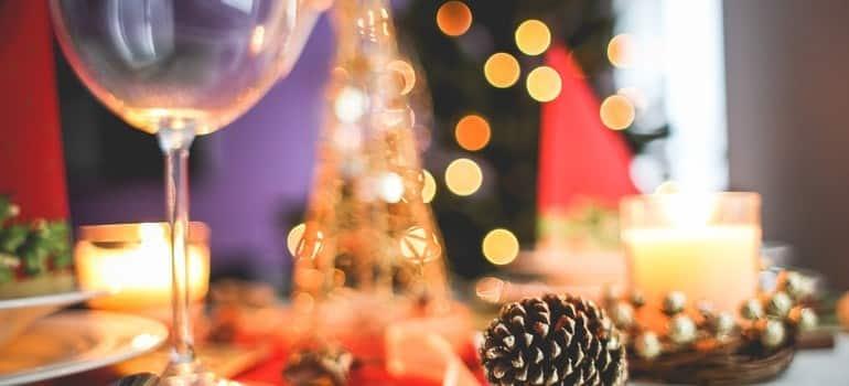 healthy christmas recipes table