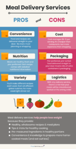 meal delivery service infographic