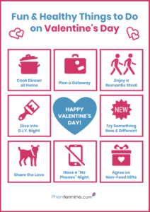 things to do on valentine's day infographic