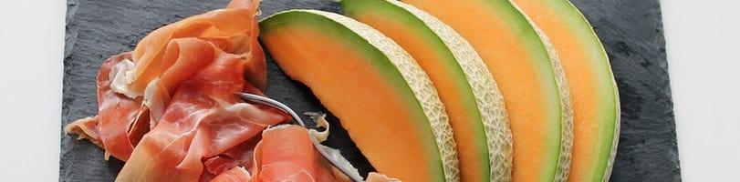 2 ingredients-melon-ham