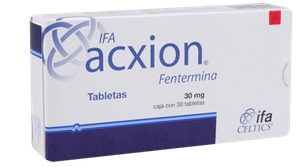 box of IFA acxion (phentermine)