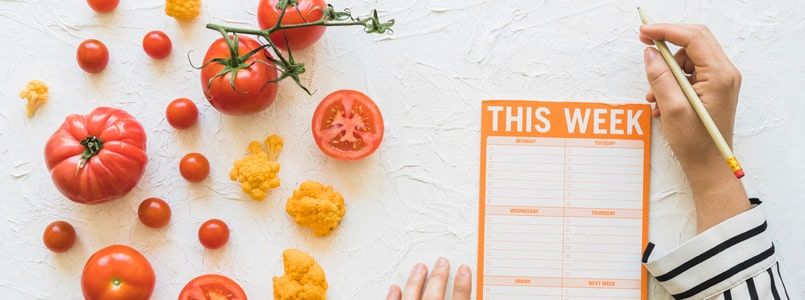 woman planning weekly meals