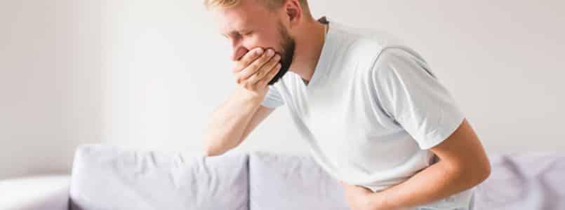 man with nausea