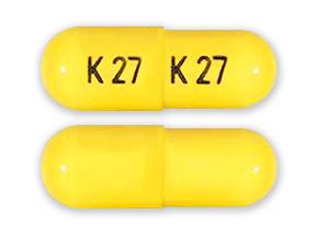 generic phentermine 30mg capsule (yellow, K 27)