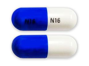 generic phentermine 30mg capsule (blue/white, N 16)