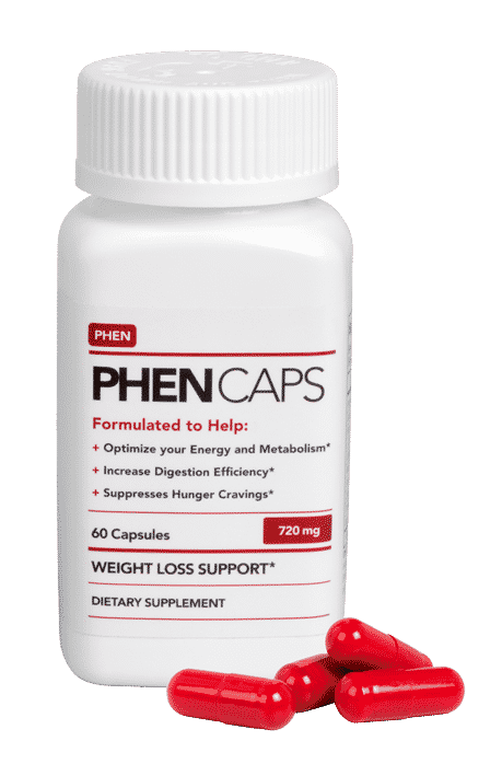 Phen Caps bottle and capsules