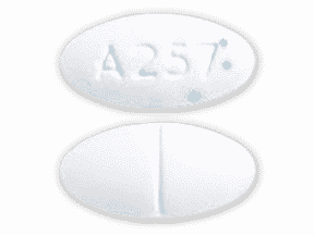 Generic phentermine 37.5 mg tablet (white with blue specks, Able Laboratories Inc)